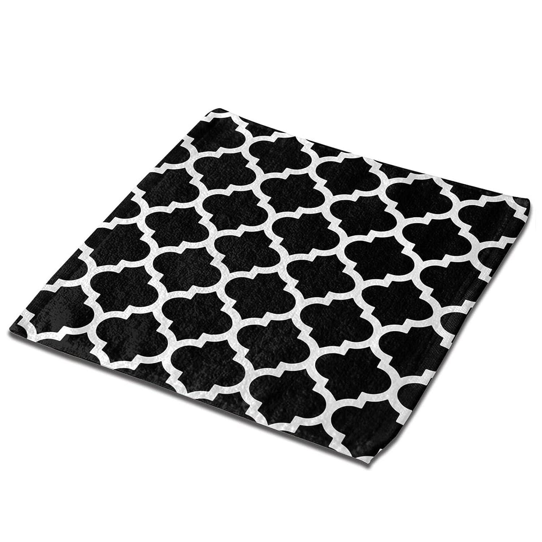Moroccan Quatrefoil Black and White OFFer Fashion Microf Trellis Towel Lattice