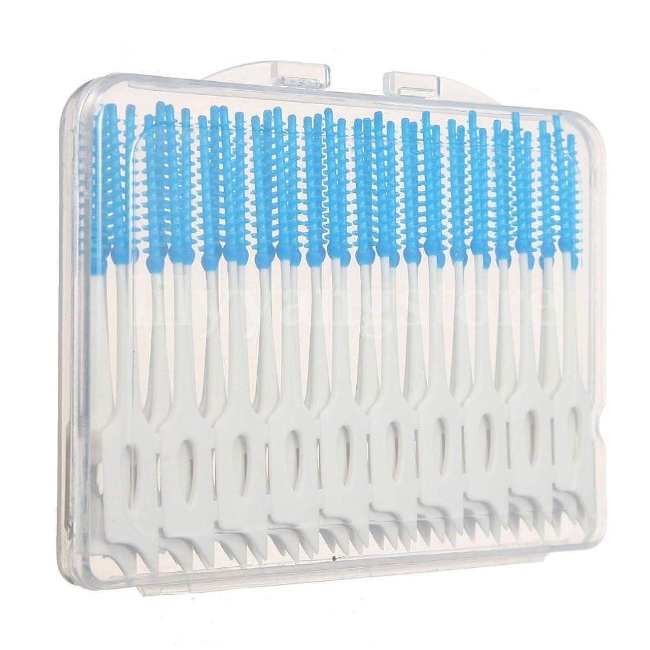 蓄積する名前緩むMaxcrestas - 便利な40個歯間フロスブラシ歯科歯オーラルケアクリーンクリーニングツール