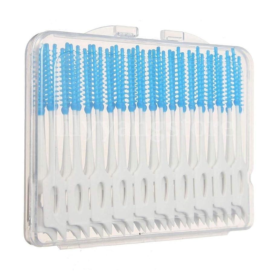 条件付きいじめっ子こどもセンターMaxcrestas - 便利な40個歯間フロスブラシ歯科歯オーラルケアクリーンクリーニングツール