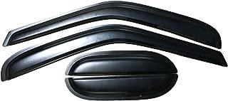 Window Visor Compatible With 1997-2003 Ford F150 F250   Slim Style Acrylic Smoke Tinted 4PCS Sun Rain Shade Guard Wind Vent Air Deflector by IKON MOTORSPORTS   1998 1999 2000 2001 2002