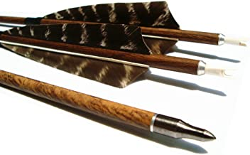MS Jumpper Hunting Carbon Arrows 400 Spine with Feathers Fletching and Target Tips for Compound Recurve Bows (6 Pack)