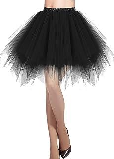 DRESSTELLS Damen Tüllrock 50er Rockabilly Petticoat Tutu Unterrock Kurz Ballett Tanzkleid Ballkleid Abendkleid Gelegenheit Zubehör