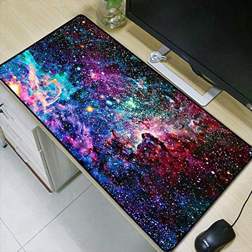 HonGHUAHUI Kleurrijke ruimte speelt mistvlekruimte de belangrijkste rol muismat PC computer laptop grote afsluitrand mousepad, 300X700X2MM