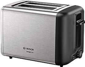 Bosch TAT3P420DE DesignLine Compacte broodrooster, ontdooi-/opwarmfunctie, inschuifbaar opzetstuk voor broodjes, automatis...