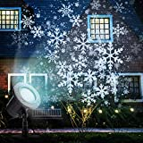 Christmas Projector Lights Outdoor, Moving Snowflakes Projector LED Christmas Lights, Waterproof Projector Decorating Stage Light, Indoor Outdoor Snowfall Holiday Party Garden Landscape Projector