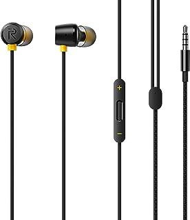 سماعات اذن 3.5 ملم RMA-155 بميكروفون للموبايلات الذكية االاندرويد من ريلمي - اسود