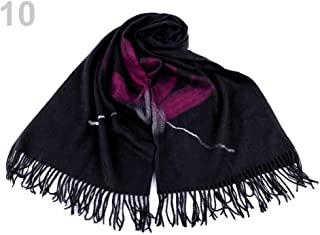 1pc Black Scarf with Fringes and Felt Flower 70x180cm, Winter Shawls Snoods, Shawls, Scarves &, Fashion Accessories