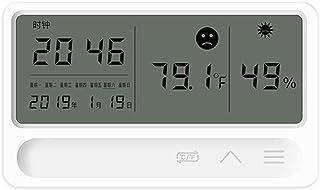 XYXZ Mini Higrómetro Termómetro Higrómetro Digital para Interiores Y Exteriores con Monitor De Humedad De 3 Sensores Panta...