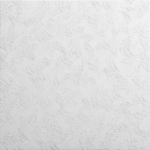 Topceilingtiles Pannelli Soffitto in Polistirolo Laminato Tango Bianco (Pacco 40 pz / 10 mq)