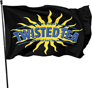 Twisted Tea 3x5 Flag Strong Long and Durable Yard Holiday and Seasonal Outdoor Home Garden Decoration