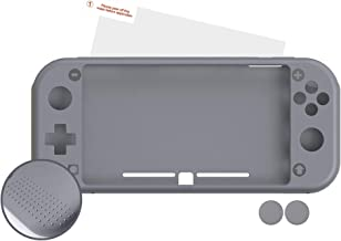 Android - Nuwa Silicona Antideslizante Gris + 2 Grips + Film Protector Para Nintendo Switch Lite