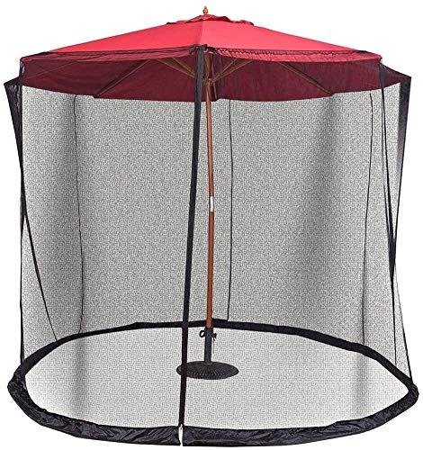 KISNAD Outdoor Garden Umbrella Table Screen Parasol Patio Umbrella Screen Zipper Door Polyester Netting Outdoor Patio Camping Umbrellaols for Camping
