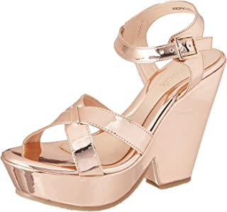 Catwalk Women's Metallic Cross Strap Slip Ons
