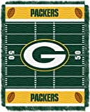 Officially Licensed NFL Green Bay Packers 'Field' Woven Jacquard Baby Throw Blanket, 36' x 46', Multi Color