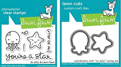 Lawn Fawn So Jelly Clear Stamp and Die Set – Includes One Each of LF899 (Stamp)..