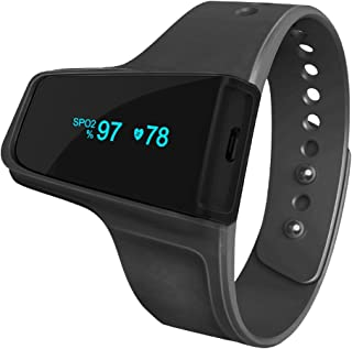 Wireless Wrist Pulse Oximeter and O2 Monitor - Sleep Aid Monitor Tracking Overnight Oxygen Saturation, Vibration Alarm for Snore and Sleep Apnea