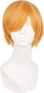 MapofBeauty Fashion Short Straight Cosplay Costume Wig (Orange)