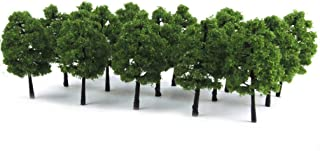 WINOMO 20St Modell Träd Miniatyrlandskap Träd Landskap Tåg Järnvägar Träd Skala 1: 100