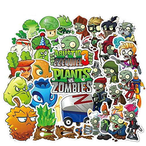 Meet Holiday Plants vs. Zombies Stickers 100 PCS Cute Cartoon Game Comics Vinyl Waterproof Stickers Kids Room Decor Sticker (Plants vs. Zombies)