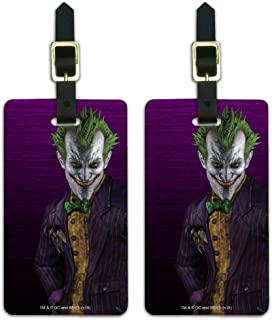 Batman Arkham Asylum Video Game Joker Luggage ID Tags Carry-On Cards - Set of 2
