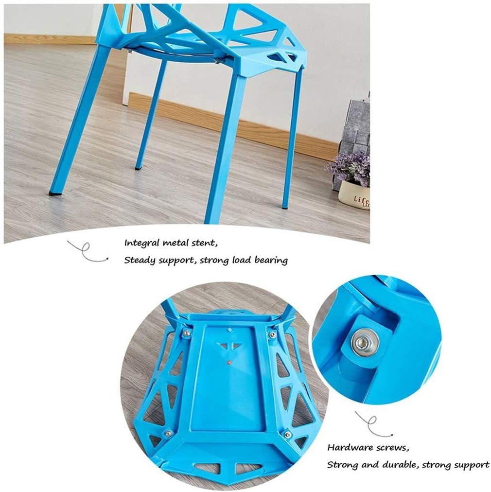 Chaises en plastique simples de ménage, chaise de salon créative appropriée à la salle à manger,Blue Orange