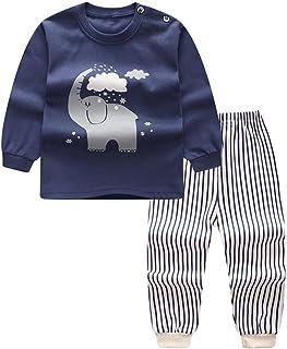 BOBORA Pyjamas Bébé Garçon, Motif de Dessin Anime Bébé Filles Garçons Manches Longues Vetements de Nuit pour 0-4Ans