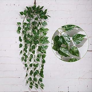 Heaviesk Follaje falso 2 m Flores de hoja de hiedra artificial Hogar Casa Plantas Jard/ín de guirnaldas Decoraci/ón del festival 6,56 ft