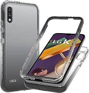 Blllue Capa para LG K22, Slim Fit, transparente, à prova de quedas, rígida, proteção com policarbonato rígido fino + moldu...