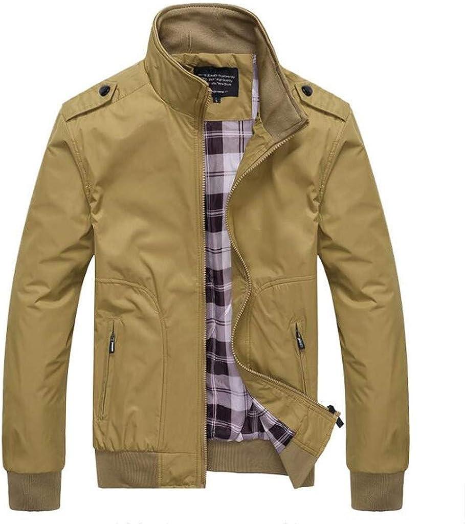 Tosonse Chaqueta De Bombardero para Hombre Otoño Casual Moda Chaqueta De Retazos De Color Puro Cremallera Outwear Chaquetas De Esquí Abrigo
