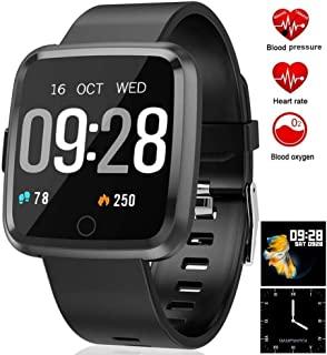 feifuns Smart Watch,IP67 Waterproof Fitness Tracker with 1.3'' Touch Screen,Heart Rate Monitor,Pedometer Watch,Sleep Monitor for Men Women Android & iPhone