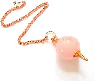 earthegy Rose Quartz Copper Sephoroton Pendulum