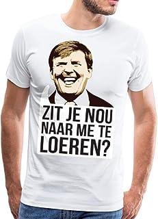 Spreadshirt Zit Je Nou Te Loeren Koningsdag Willem Mannen Premium T-shirt