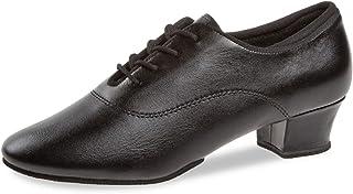 Diamant Zapatillas de entrenamiento para mujer 185-234-560-A, piel negra, tacón de 3,7 cm, suela dividida, fabricadas en A...