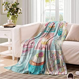 Oncegod Baby Blanket Kitchen Cupcakes and Marshmallows Sofa Warm Bed 84