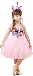 فساتين الأميرة للبنات تلبيس الملابس للفتيات الصغيرات يونيكورن فساتين للبنات الصغيرات توتس للبنات