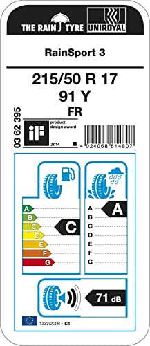 Uniroyal Rainsport 3 Fr 215 50r17 91y Sommerreifen Auto