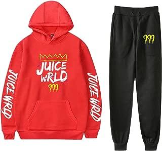 URMOSTIN Jogging Tracksuit Unisex Women Men Casual Playsuits Juice Wrld Sportswear Long Sleeve Pullover Hoodie Sweatshirt Sweatpants 2 Pieces Outfits Set