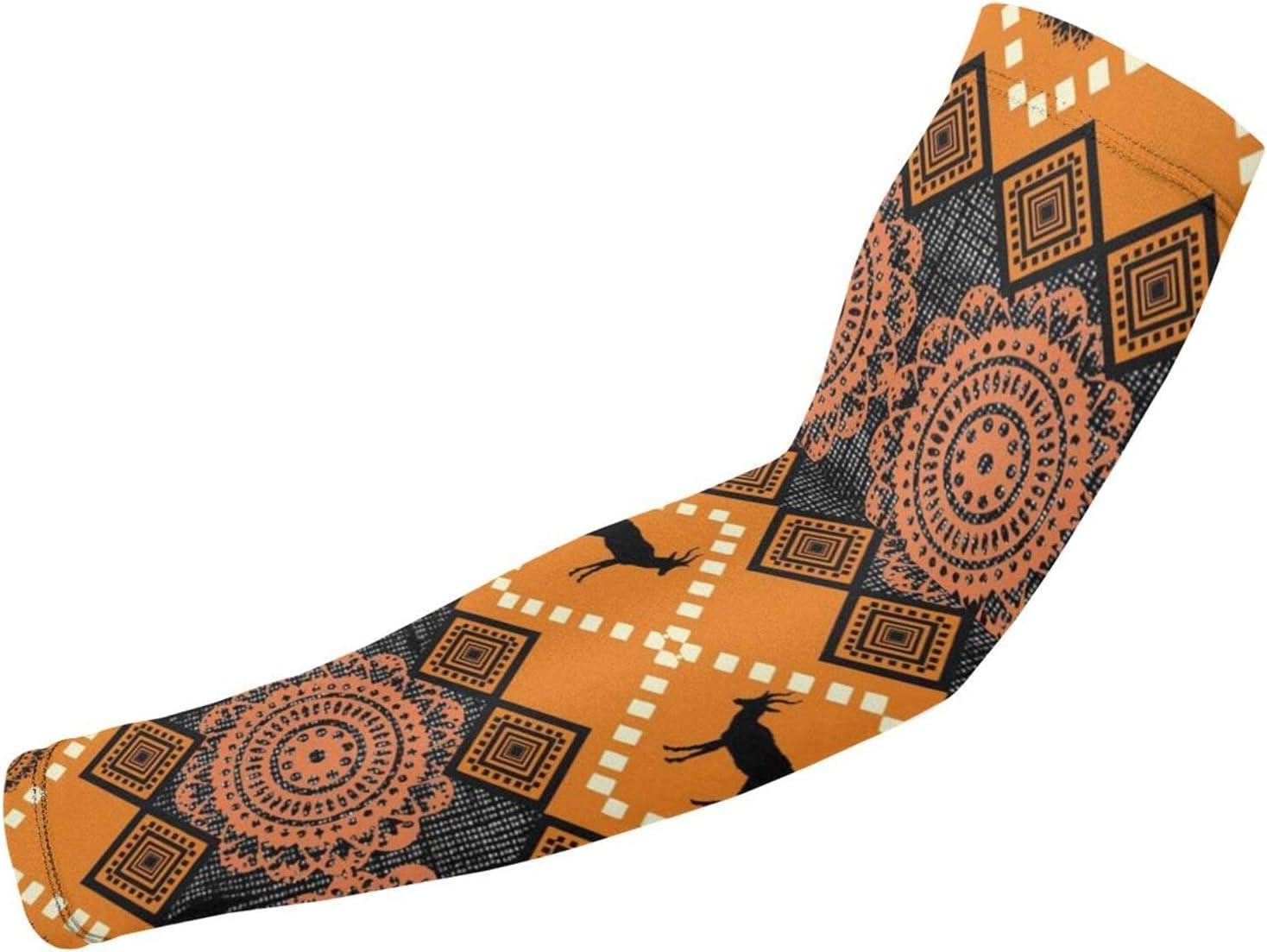 OMOXILOUY Dedication Albuquerque Mall East African Patterns Arm Sunblock Guard Protective Gl