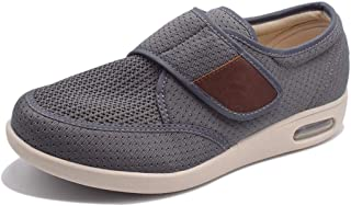 Mei MACLEOD Men's Lightweight Adjustable Closure Athletic Walking Shoes Memory Foam Fashion Sneakers
