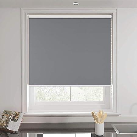 KGロールスクリーン ロールカーテン 1級遮光 突っ張り式ロールスクリーン オーダーメイド 生地サンプル グレー 幅10*丈10cm