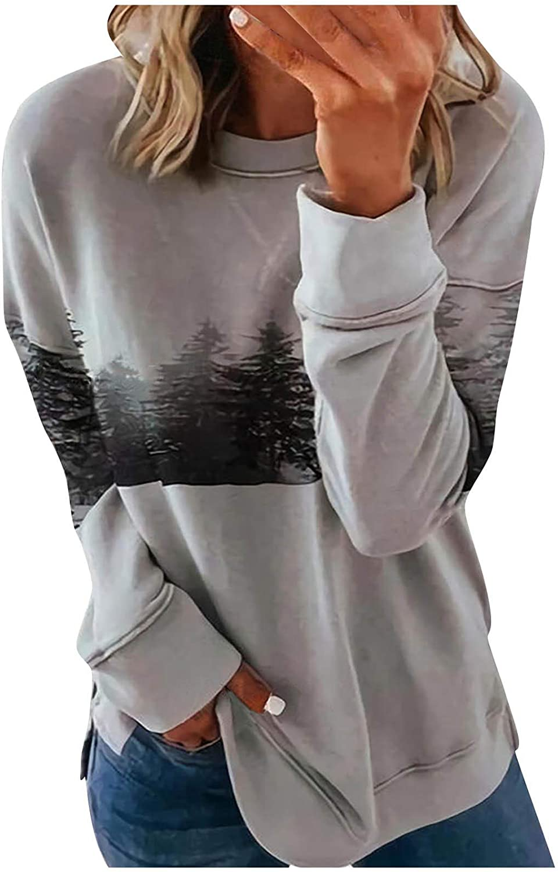 Women's Vintage Sweatshirt Crewneck Long Sleeve Fall Winter Tops Stripe Print Color Block Patchwork Pullover Blouse