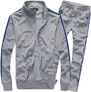 MACHLAB Men's Athletic Full Zip Running Tracksuit Sports Set Casual Sweat Suit