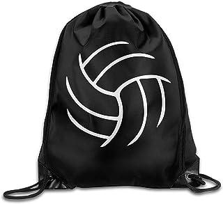 Lawenp Voleibol Mochila con cordón Mochila con Forma de Boca Mochila Bolsos de Hombro para Hombres y Mujeres