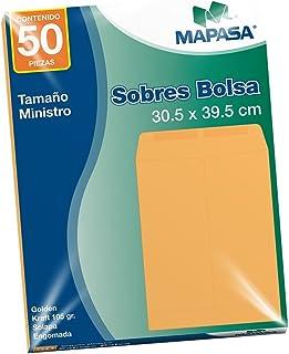 Mapasa IA0319 Paquete con 50 Sobres, Tamaño Ministro Golden Kraft