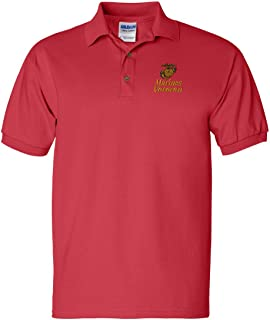 Marines Veteran Custom Personalized Embroidery Embroidered Golf Polo Shirt