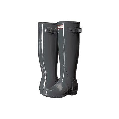 Hunter Original Tall Gloss Rain Boots (Feather) Women