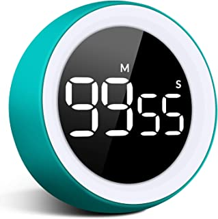 Unzano Digital Kitchen Timer - 99 Minutes and 55 Seconds LED Display Visual Timers for Autism, Food, Cooking, Game, Fitness, Meeting, Countdown Timer for Kids Time Management