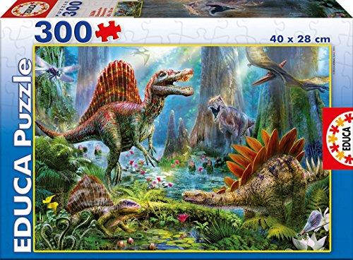 Puzzles Educa - Puzzle con diseño Dinosaurios, 300 Piezas (16366)