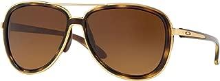 Women's OO4129 Split Time Aviator Metal Sunglasses