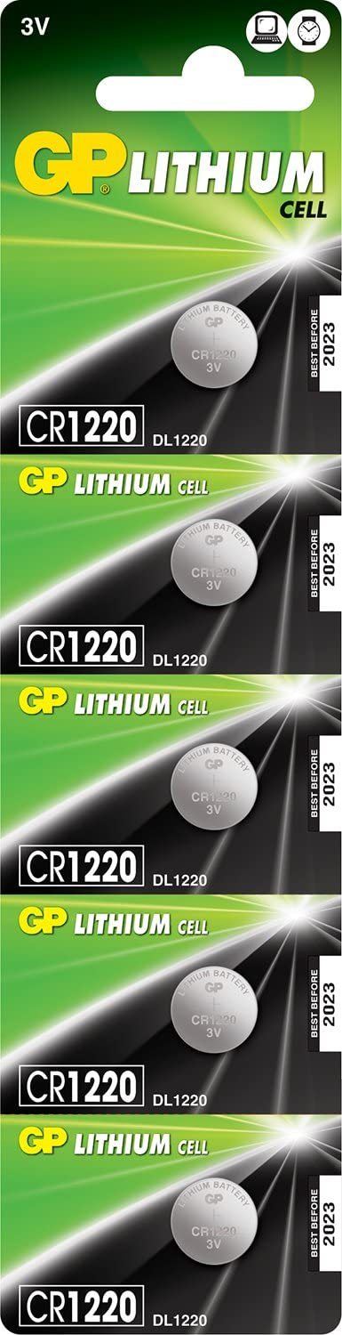 GP Lithium Button Cell 5 Batteries Piece CR1220 New popularity Super sale